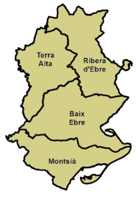 Mapa Terres De L Ebre.Terres De L Ebre